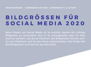 Bildgrössen Social Media 2020